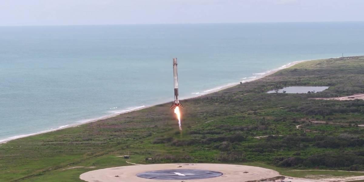 Mira el quinto aterrizaje del Falcon 9 de SpaceX