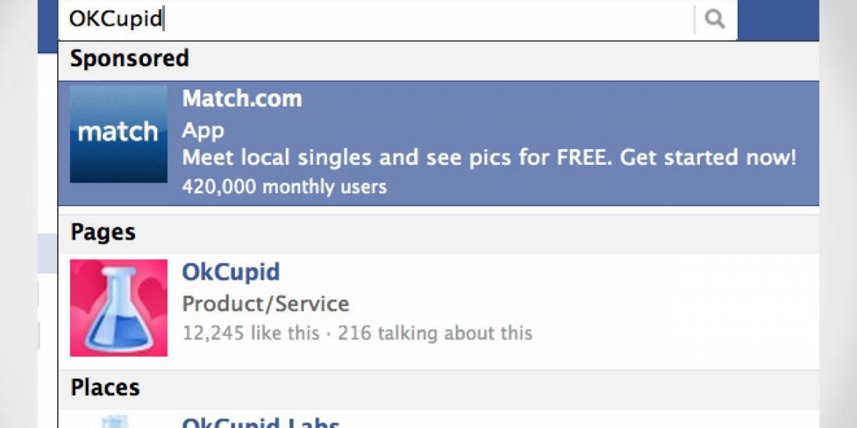 Facebook lanza resultados de búsqueda auspiciados