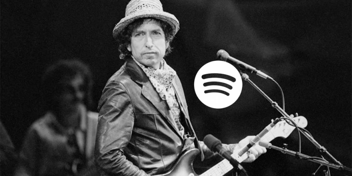 Reproducciones de canciones de Bob Dylan aumentaron un 512% en Spotify