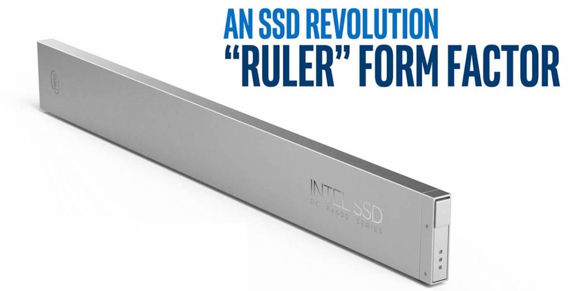 Intel muestra una nueva memoria SSD en forma de regla