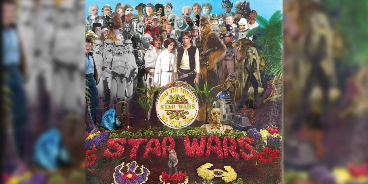 Ilustrador mezcla portadas de discos famosos con personajes de Star Wars