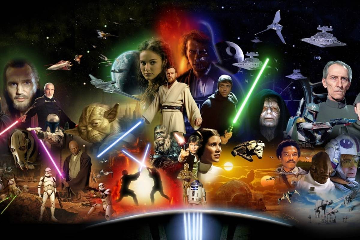 Alguien sobrepuso las 6 películas de Star Wars en un mismo video y es épico