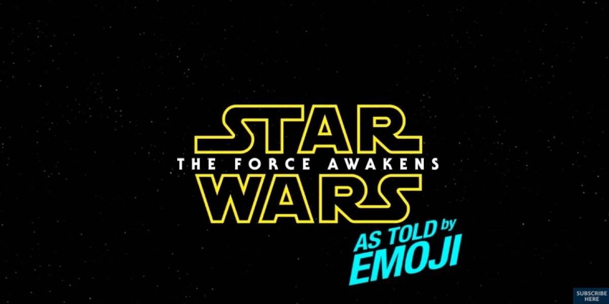 Star Wars: The Force Awakens es recreado con emojis