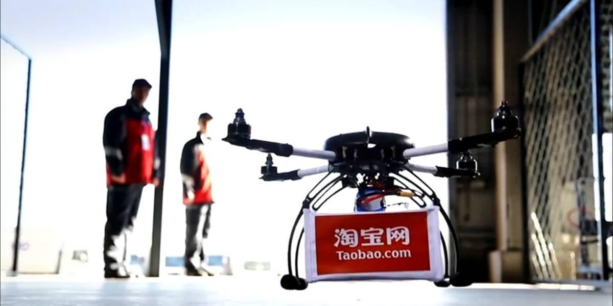 Alibaba muestra cómo puede entregar paquetes con drones