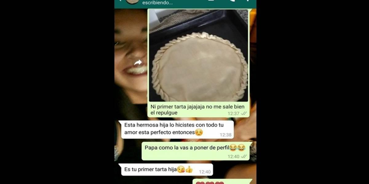 Hizo su primera tarta, le envió la foto a su padre por WhatsApp y la increíble reacción del hombre es el nuevo viral