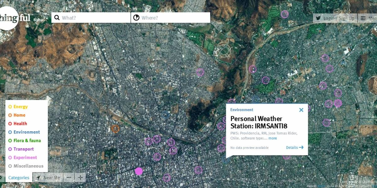 Thingful quiere ser el atlas de la Internet de las Cosas
