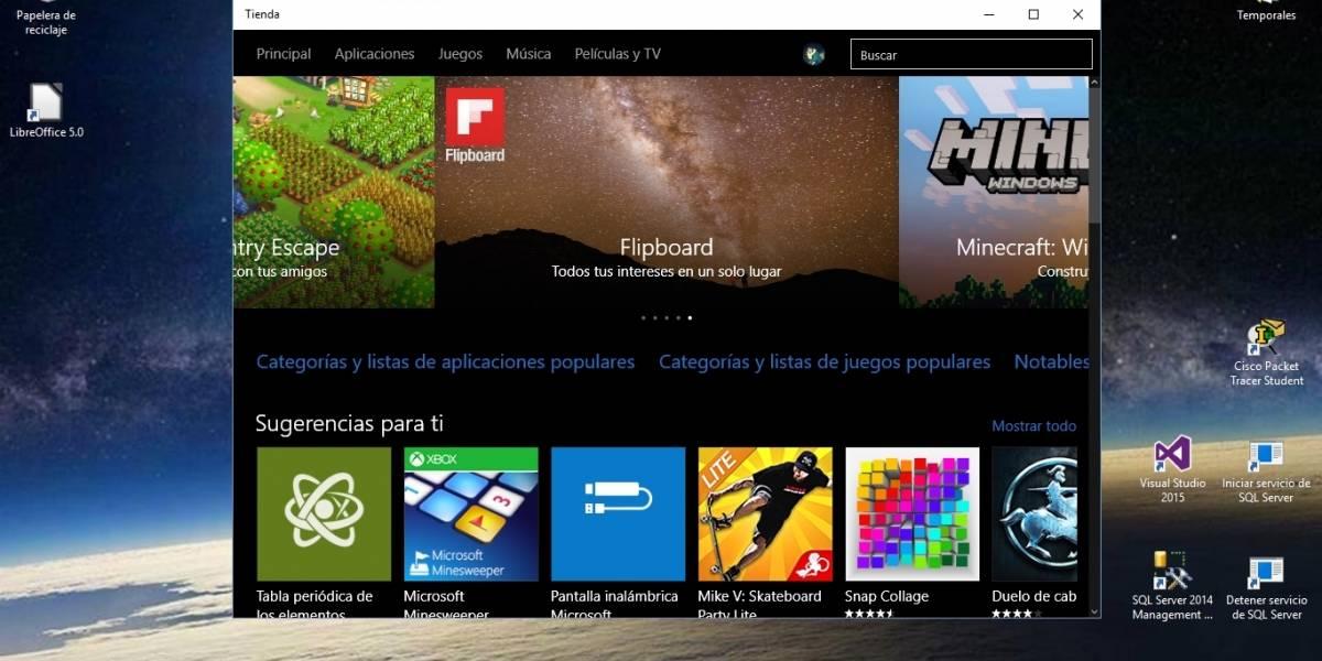 Tienda Windows ya muestra requerimientos del sistema para las apps