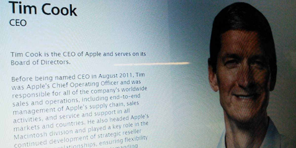 Hitos de Tim Cook tras un año como CEO de Apple