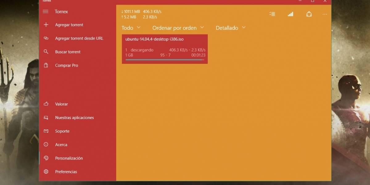 Torrex: cliente de torrents diseñado para Windows 10 [FW Labs]