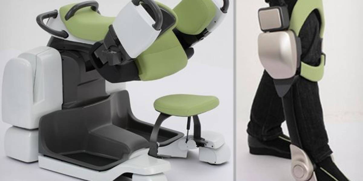 Robots enfermeros japoneses para ayudar a la rehabilitación de un paciente