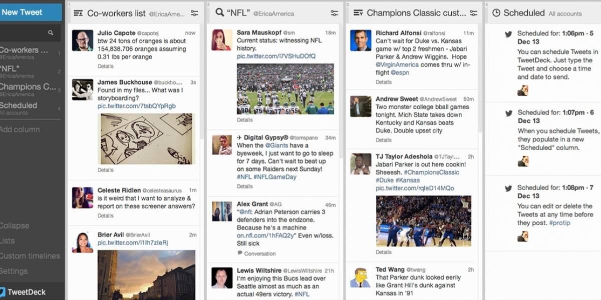 TweetDeck se actualiza con mejores funciones para community managers