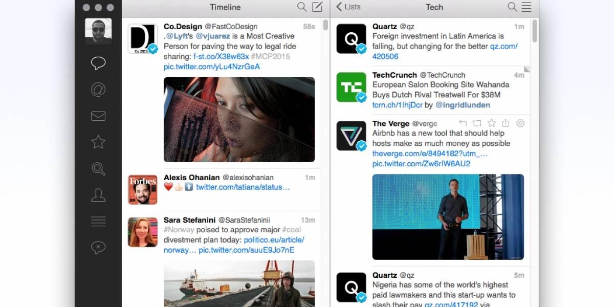 TweetBot 2.0 sigue siendo la mejor aplicación de Twitter para Mac