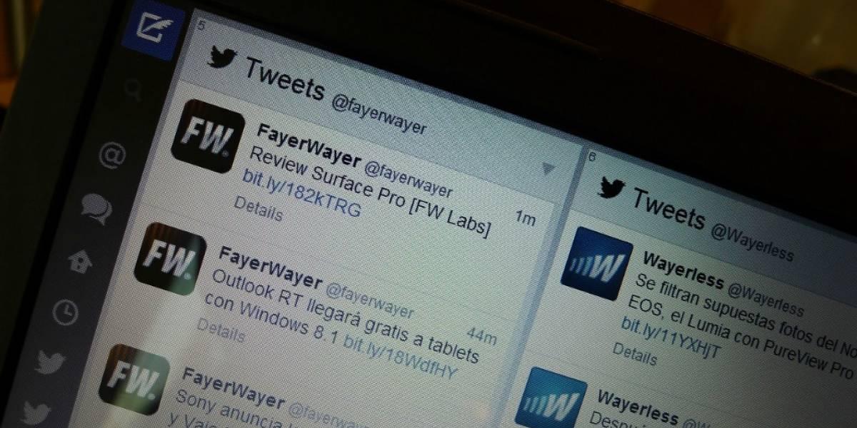 Tweetdeck actualiza su cliente web y su versión para Chrome