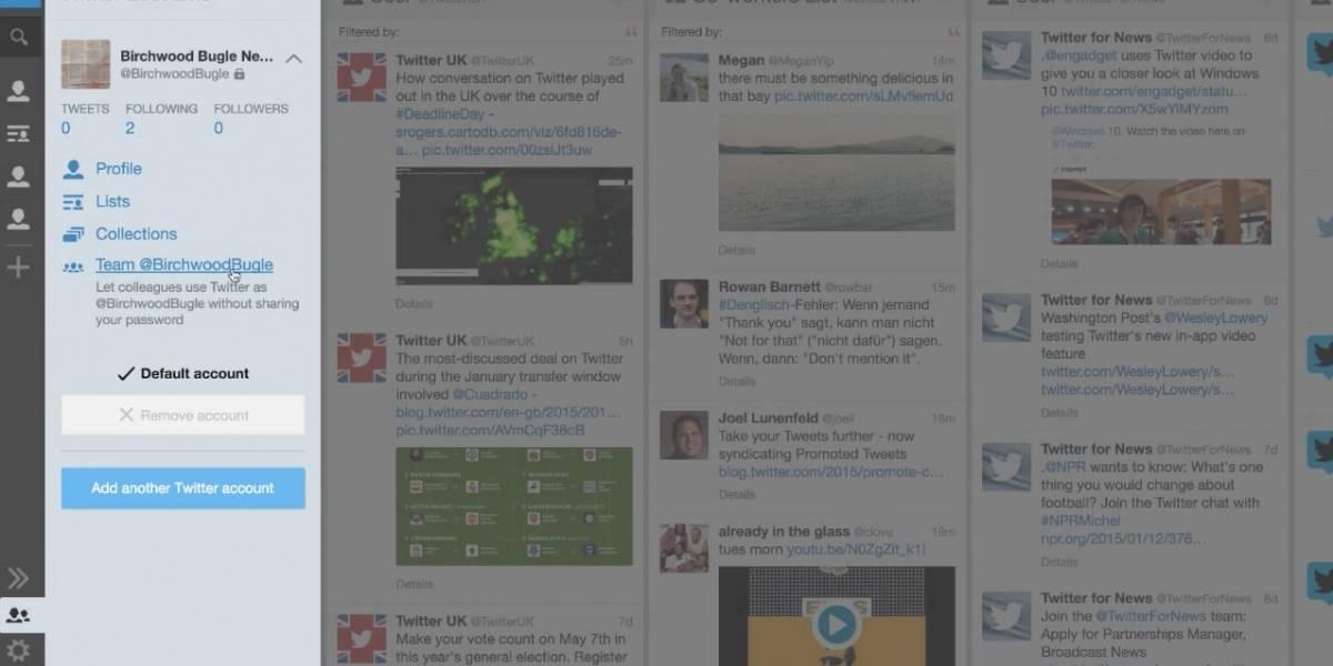 TweetDeck permite compartir cuentas de Twitter sin dar contraseñas