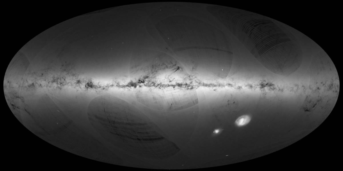 La misión Gaia ya tiene el primer mapa completo de la Vía Láctea