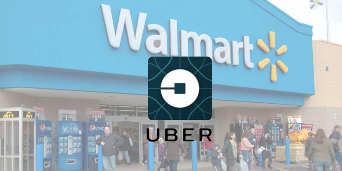 Walmart firma acuerdo con Uber para entregar las compras del súper