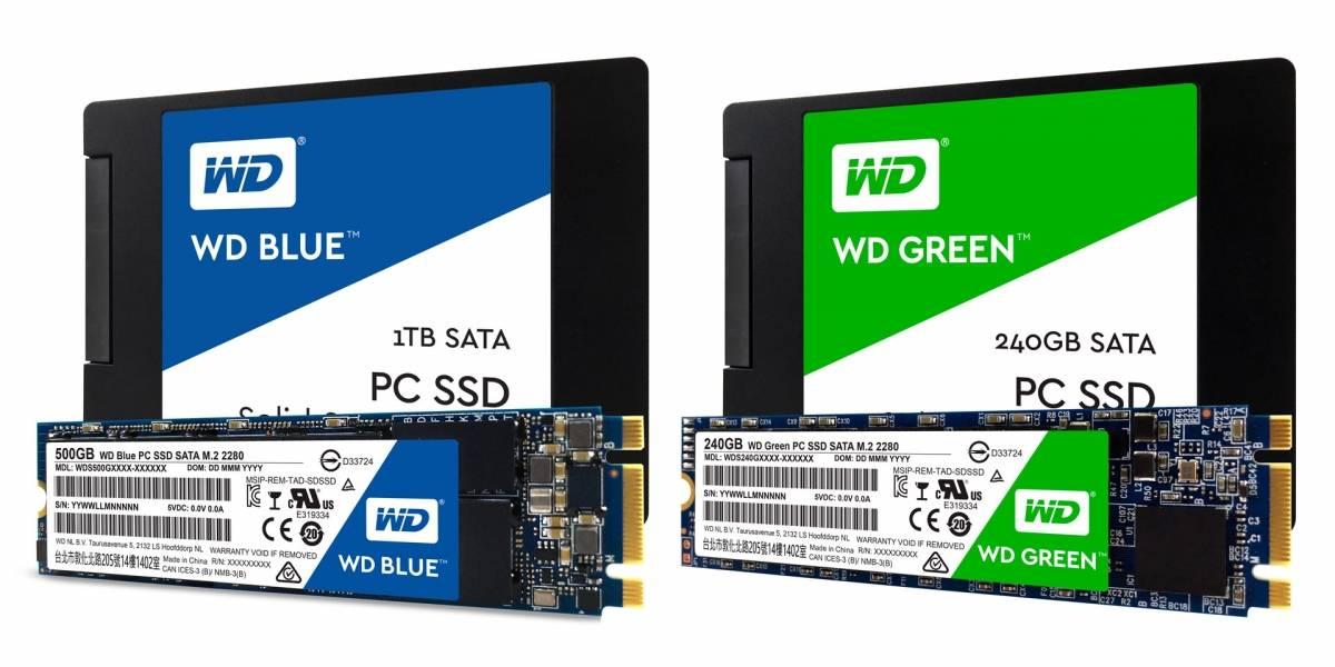 Western Digital lanza nuevos modelos de sus SSD WD Blue y WD Green
