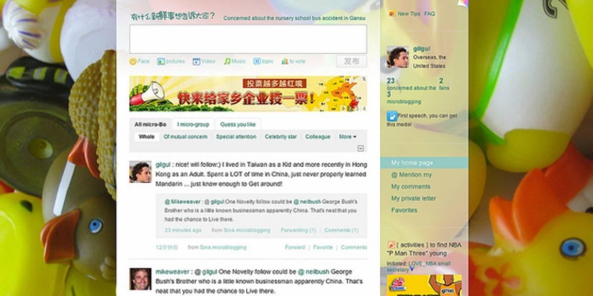 Weibo duplica a Twitter en cantidad de usuarios