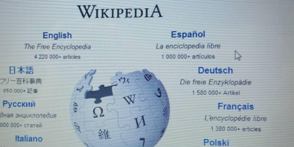 Wikipedia superó el millón de artículos en español