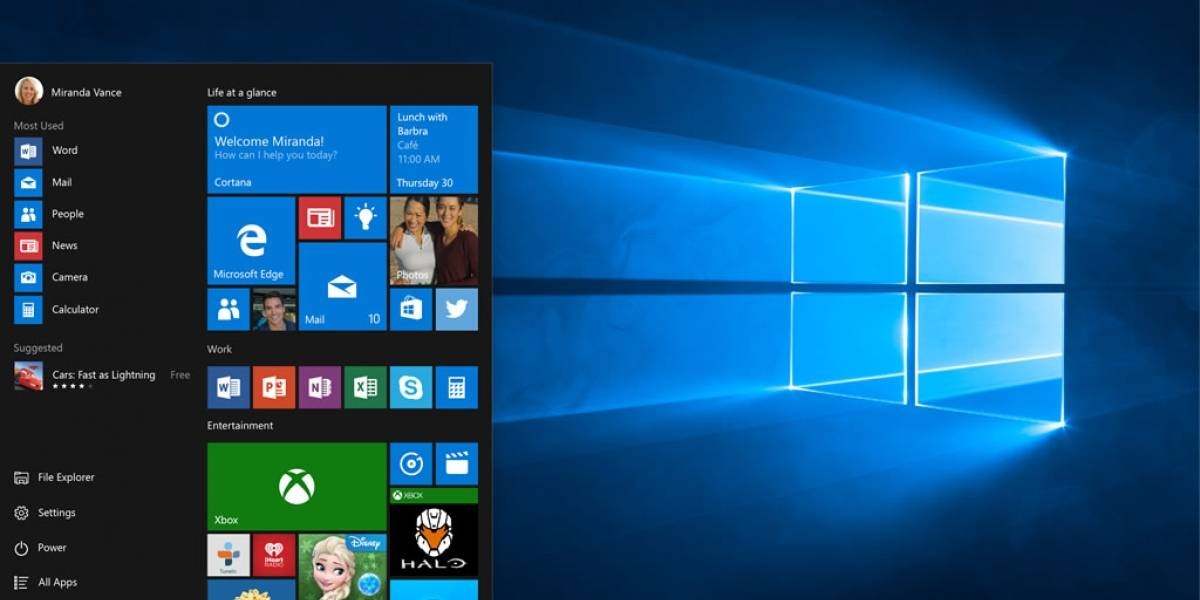 Windows 10 Creators Update permitirá organizar apps por carpetas