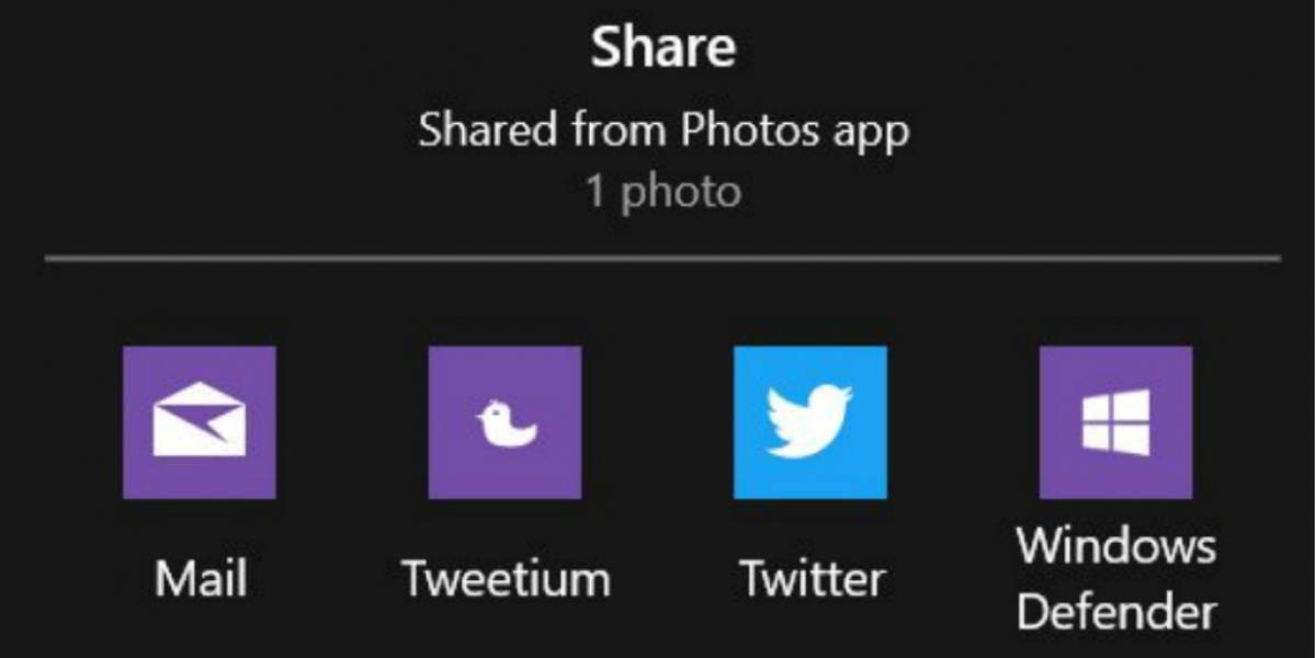 Así funciona el nuevo menú para compartir de Windows 10