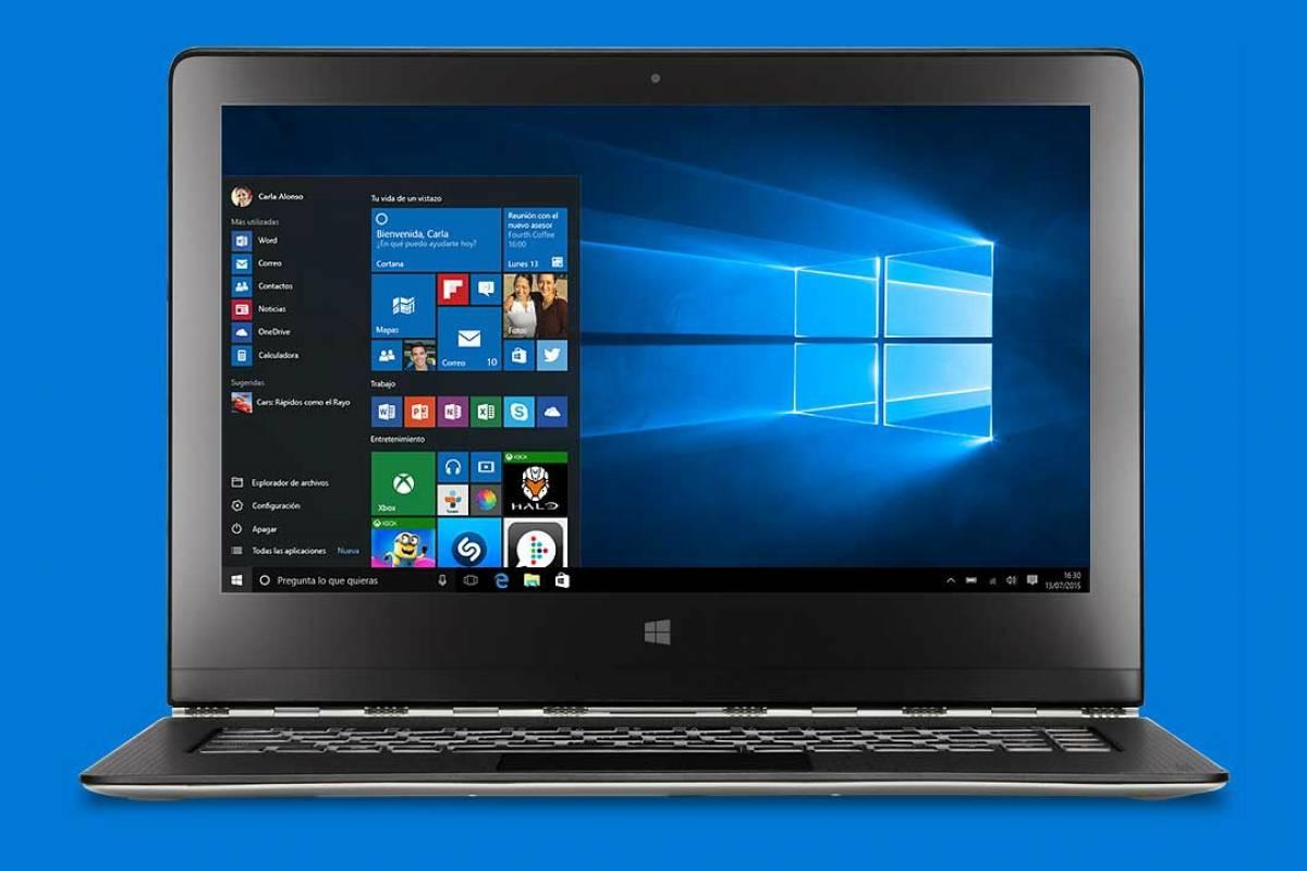 Filtran nuevo diseño del menú inicio de Windows 10