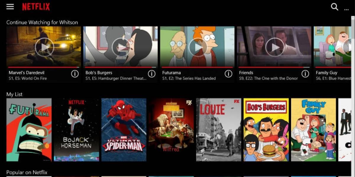 Netflix añade su contenido offline en la app de Windows 10