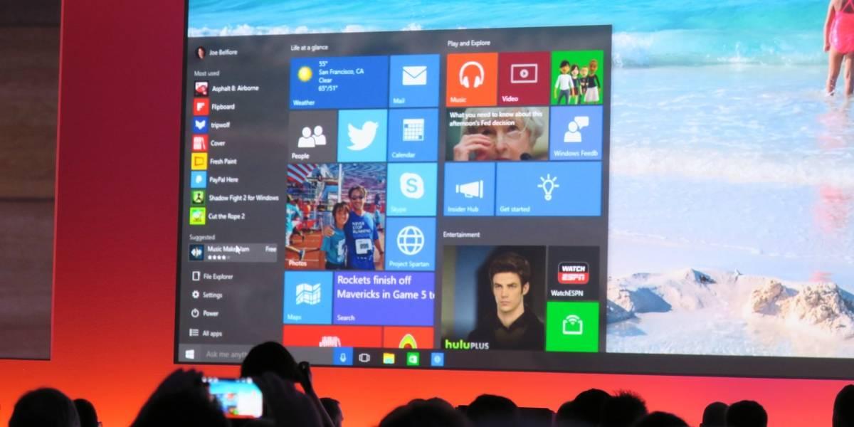 Windows 10 se actualizaría de forma diferente en cada edición