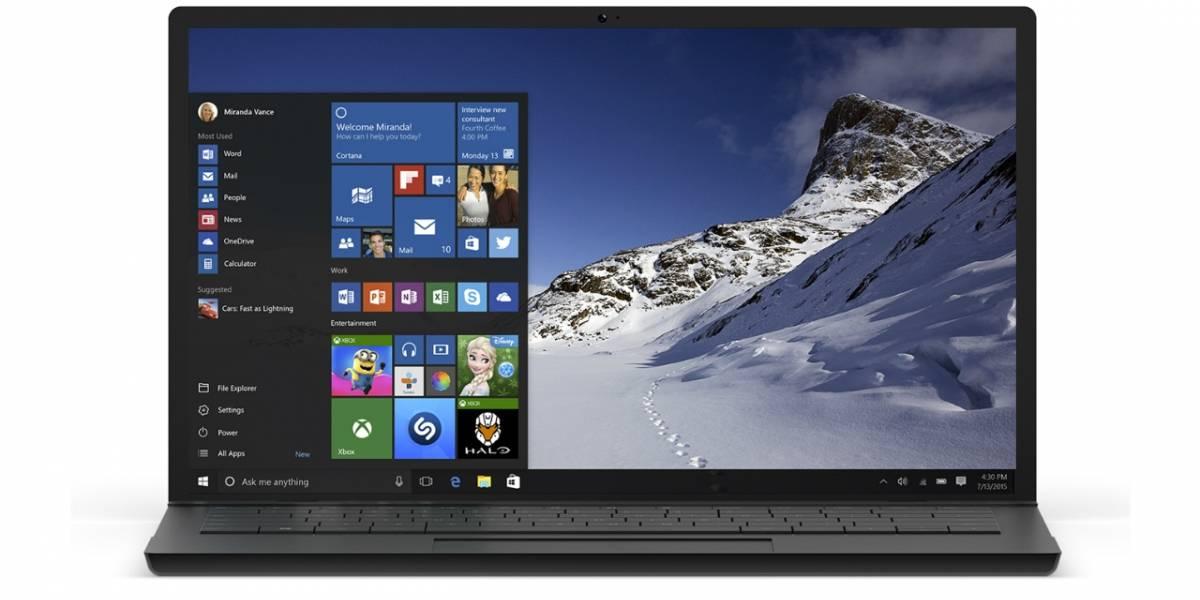Nuevo menú de inicio llegaría dentro de poco a Windows 10