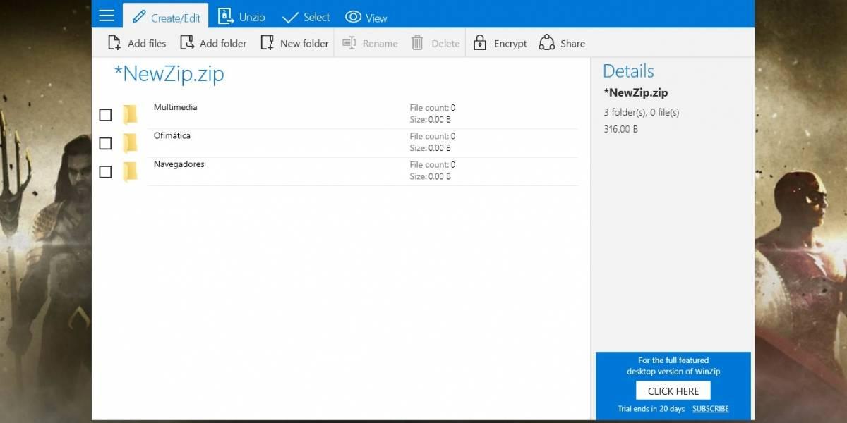 WinZip lanza aplicación universal para Windows 10