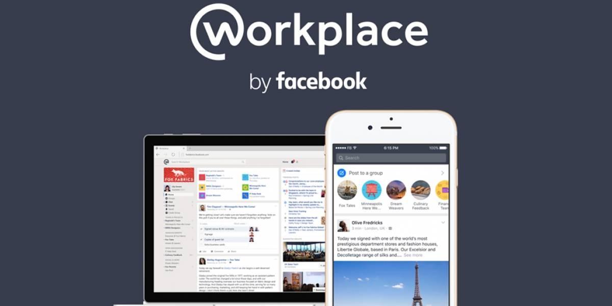 Facebook lanza oficialmente su aplicación Workplace