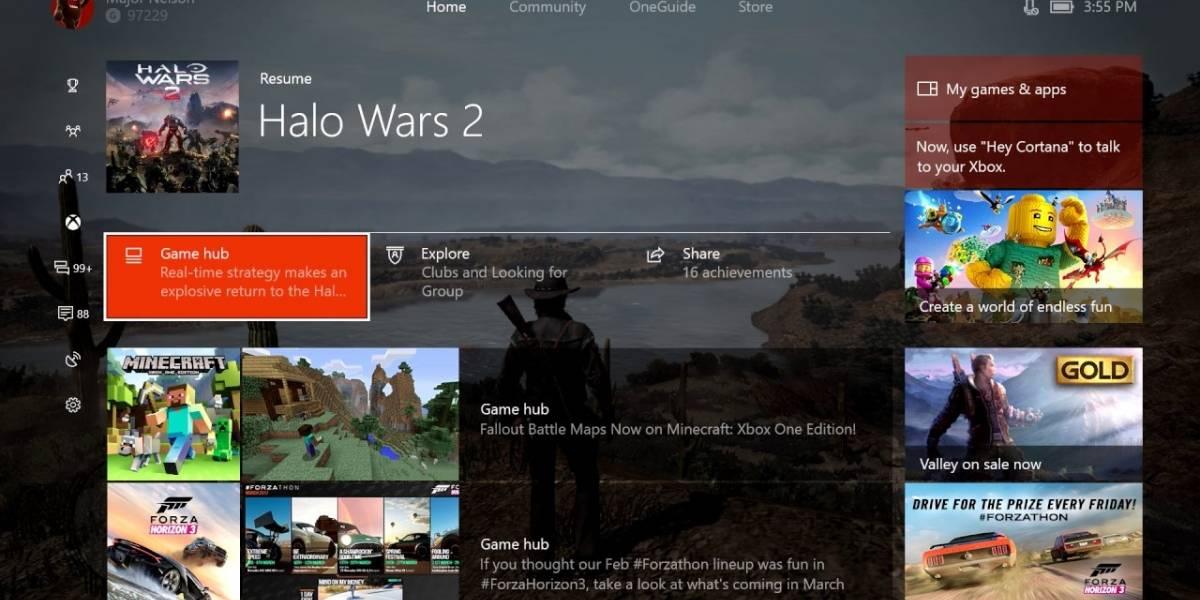 Xbox One recibe oficialmente a Creators Update