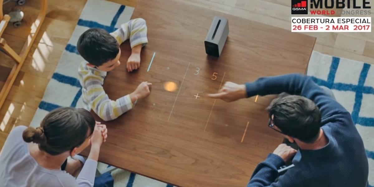 Xperia Touch convierte cualquier superficie en una pantalla táctil #MWC17