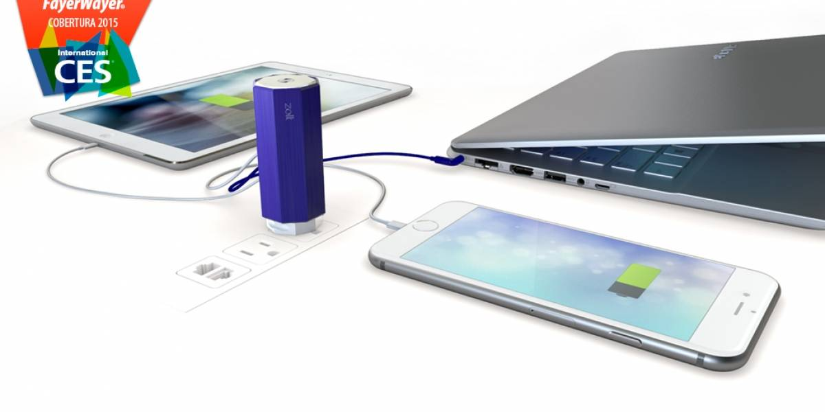 Zolt es un cargador para tu laptop, tablet y smartphone vía USB #CES2015