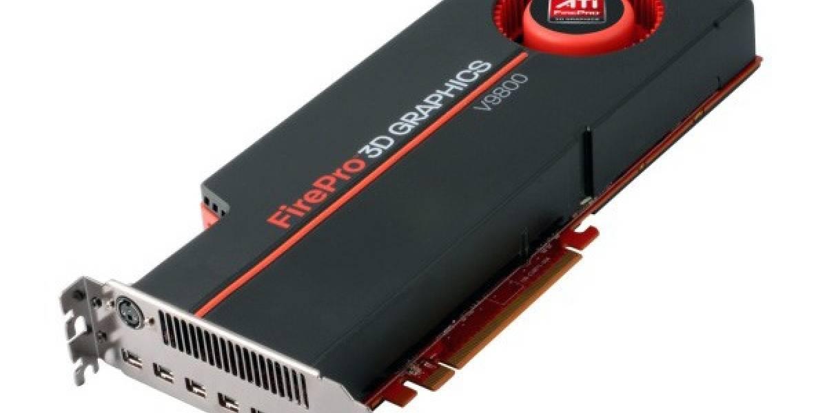 AMD presenta la tarjeta profesional ATI FirePro V9800 con 4GB de GDDR5 y 6 conexiones mini DisplayPort