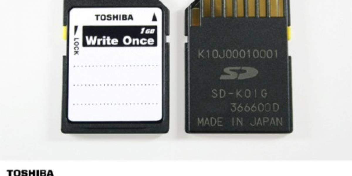 Toshiba Write-Once: Una Tarjeta SD de solo lectura