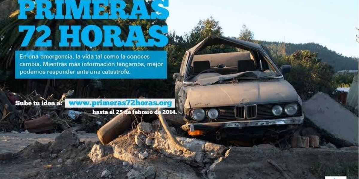 Primeras72Horas, un desafío tecnológico de Unicef y Socialab para responder a catástrofes