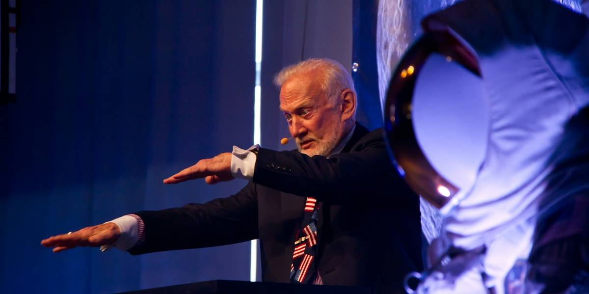 Para Buzz Aldrin el agua en Marte es otro pequeño paso para la humanidad
