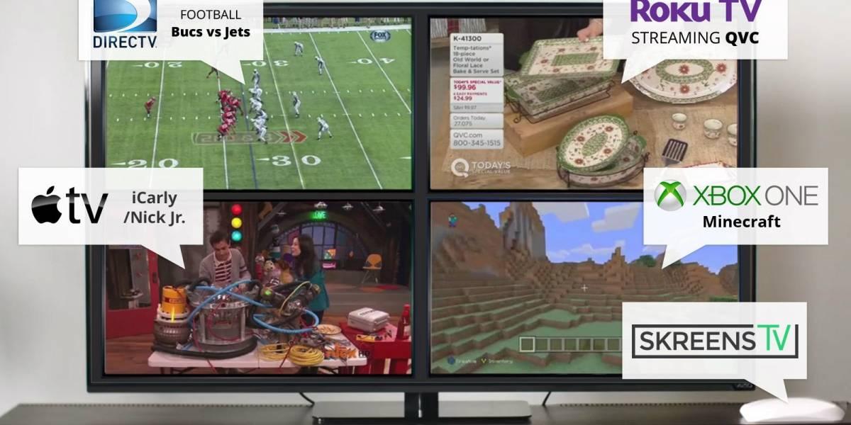 SkreensTV te permite ver hasta cinco programas a la vez en la misma pantalla