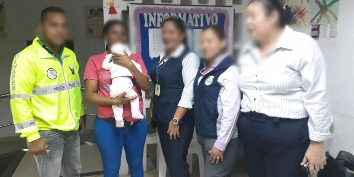 Policía rescata a bebé de 3 meses en Guayas