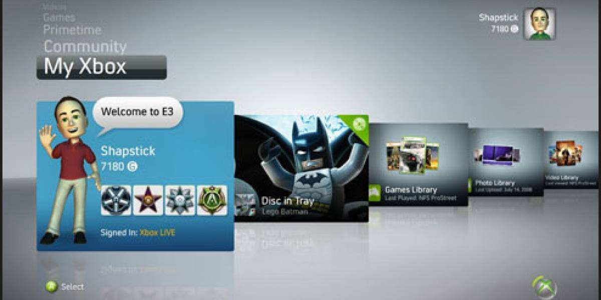 El nuevo Dashboard de XBOX 360 llega junto a una actualización obligatoria