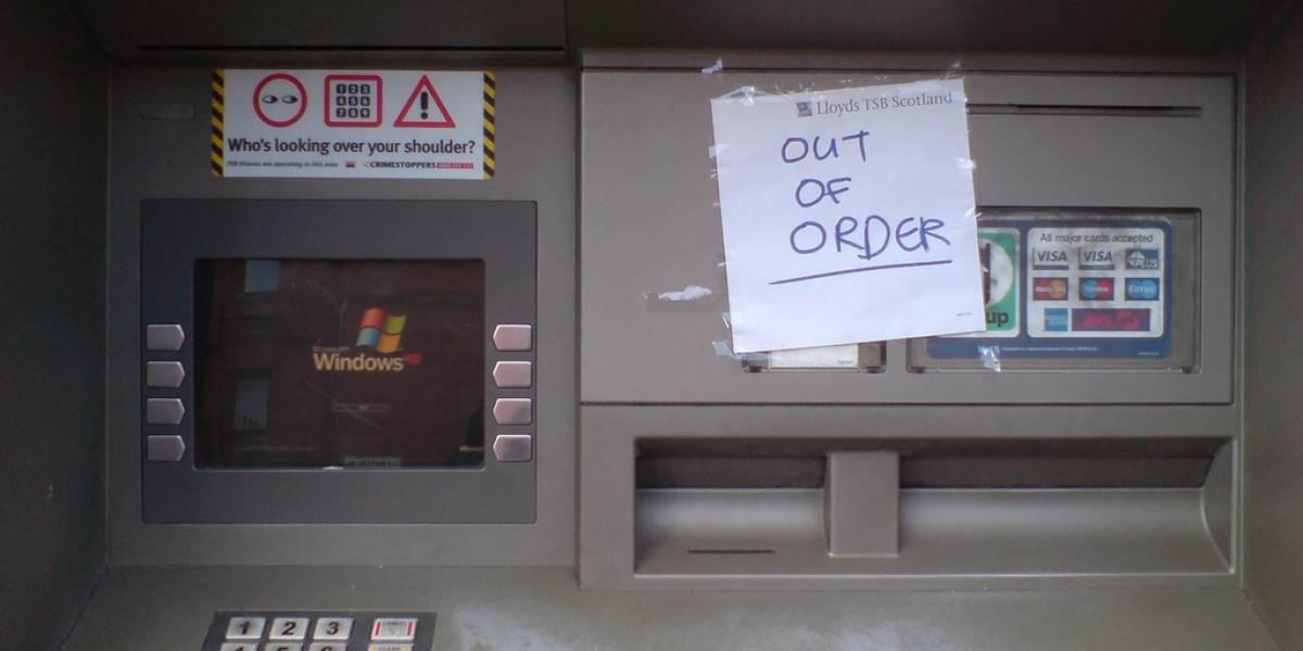 El fin de Windows XP afectará al 95% de cajeros automáticos en el mundo