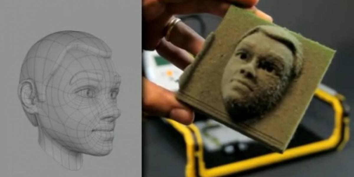Una fresadora LEGO con la que hacer unos bonitos retratos