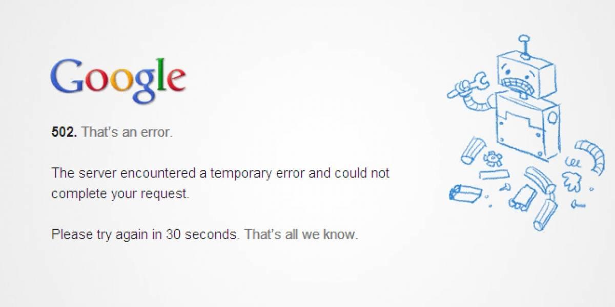 Google Drive presenta interrupciones en el servicio (Actualización)