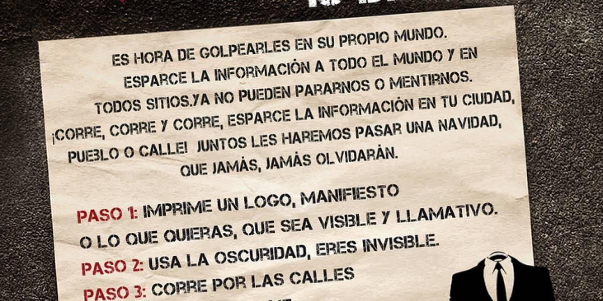 """Anonymous hace un llamado para participar de la Operación """"Tormenta de Papel"""""""