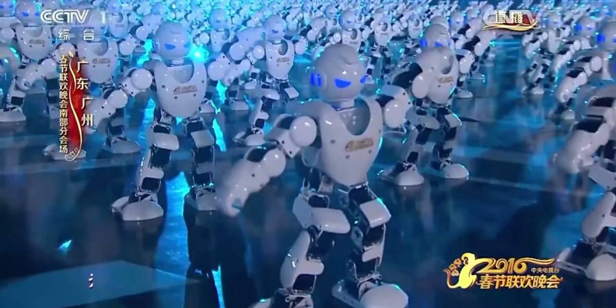 ¿Cómo celebraron los chinos su Año Nuevo? Con 540 robots bailarines