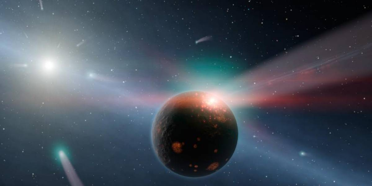 Telescopio Espacial Spitzer detecta una tormenta de cometas sobre otro sistema solar