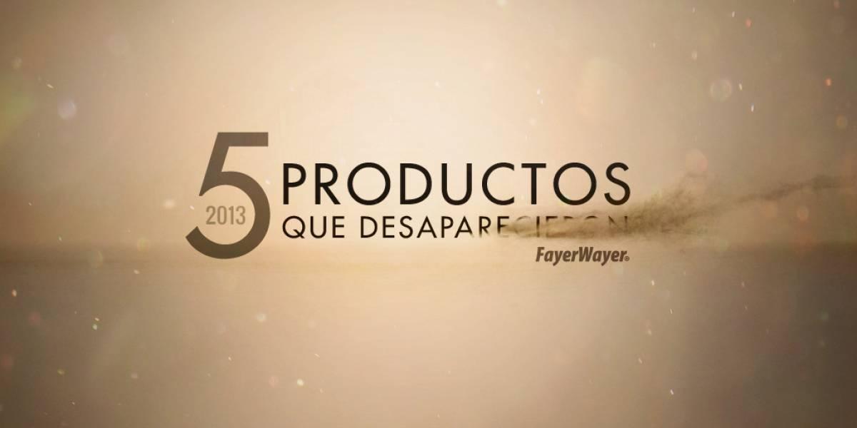 5 productos que desaparecieron durante 2013