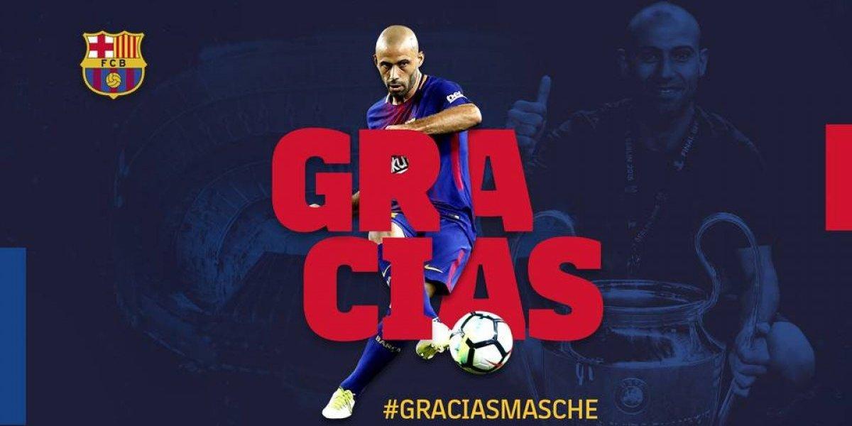 ¡Gracias Masche! Barcelona confirma la salida de Mascherano