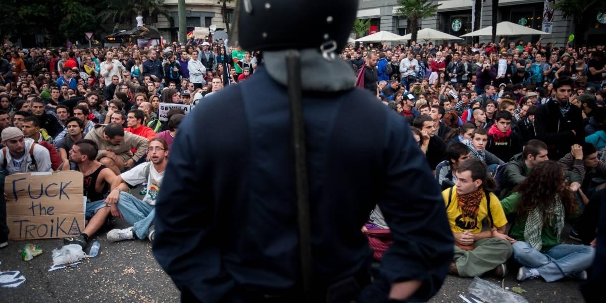 """Hologramas como protesta contra """"Ley Mordaza"""" en España"""